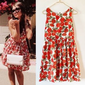 Anthropologie Sunday in Brooklyn Red Roses Dress